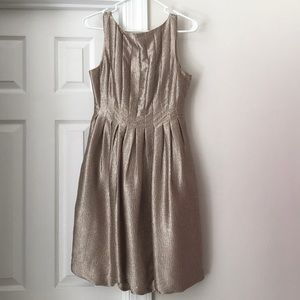 Maggy London champagne cocktail dress